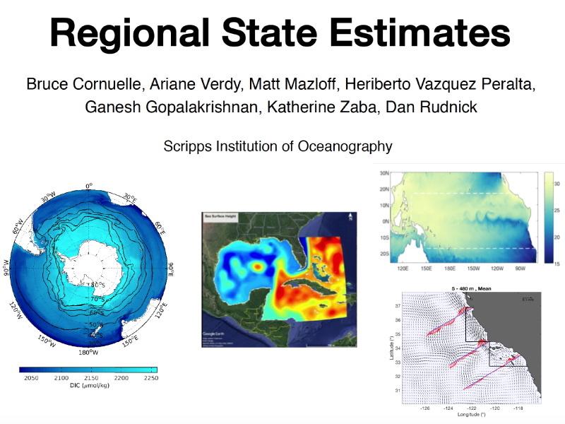 Presentation title page: Regional State Estimates