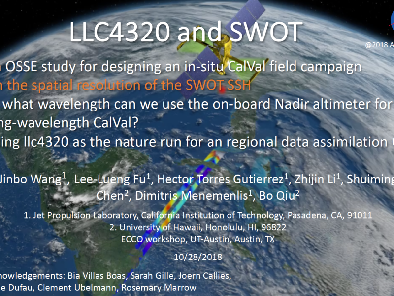 Presentation title page: LLC4320 and SWOT