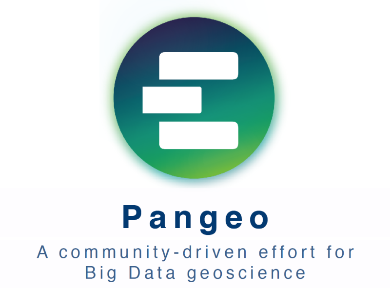 Presentation title page: Pangeo: A Community-driven Effort for Big Data Geoscience