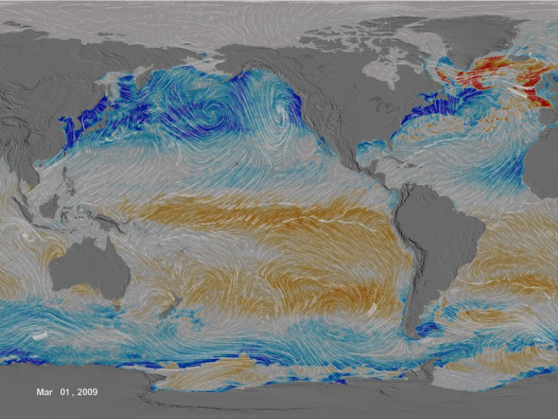 Ocean surface CO2 flux between 1/1/2009 and 12/31/2010