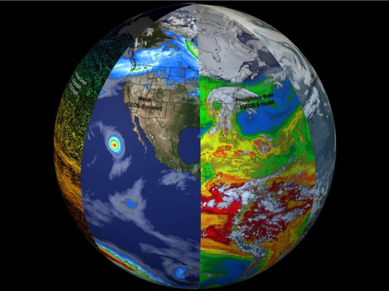 Slices of Earth observational and modeling data